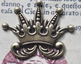 THREE Brass court jester crown, Brass OX