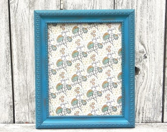 Shabby Chic 8 x 10 Turquoise Frame, Single 8 x 10 Painted Picture Frame, Upcycled Picture Frame