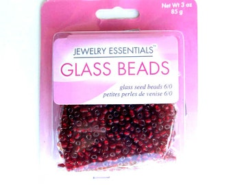 Red Glass Beads for Jewelry Making Supplies