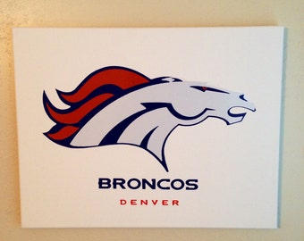 Denver broncos logo 14x18 canvas