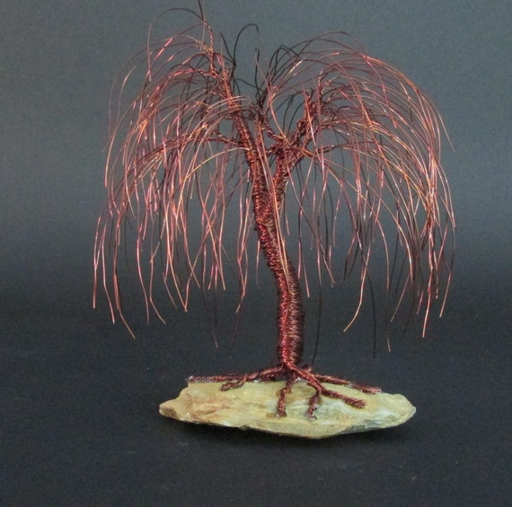Brown willow tree sculpture