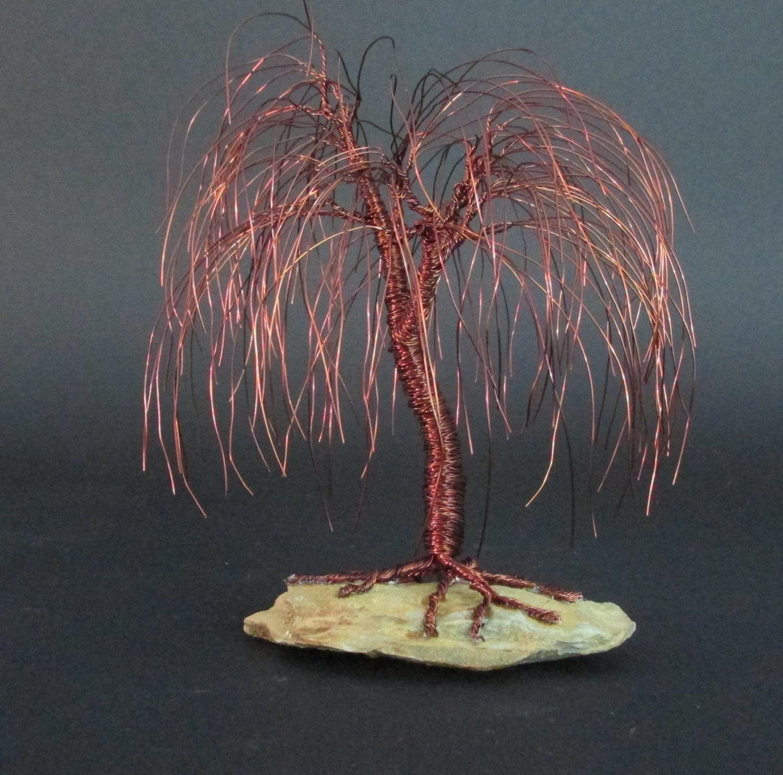 Brown willow tree sculpture