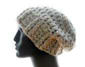 CROCHET PATTERN: The Super-Size Ribby Slouchy for Men and Women, Hat Pattern, Instant Download PDF