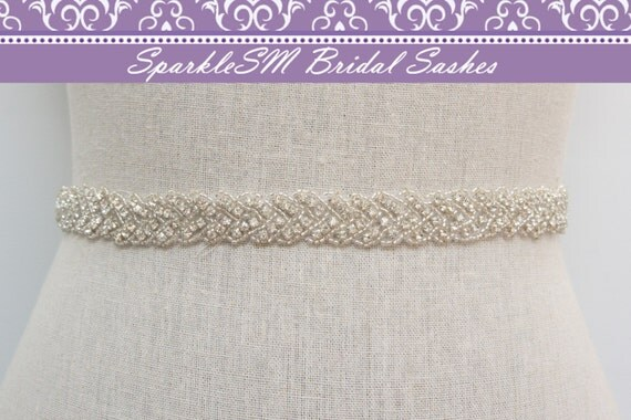 Rhinestone Crystal Bridal Belt Sash, Wedding Sash Belt, Bridal Accessories, Crystal Belt Sash Bridal Belt, SparkleSM Bridal Sashes, Vivienne