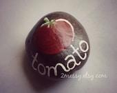 Veggie Garden Rocks - Tomato