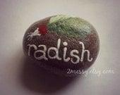 Veggie Garden Rocks - Radish