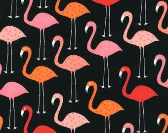 Flamingos on Black From Robert Kaufman