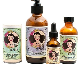 Beautiful Skin Bundle - Organic Vegan Skin Care Starter Kit
