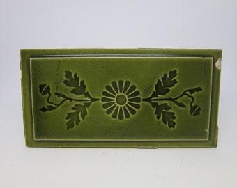 Original green floral large tile set