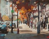 "Original Art // Yaletown (Vancouver) // 18"" x 11"" // Acrylic Painting on Paper by Joanne Hastie"