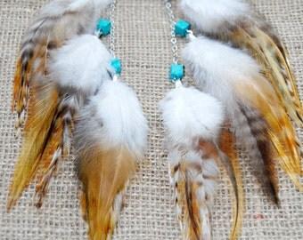 Feather Earrings - Autumn Dreams