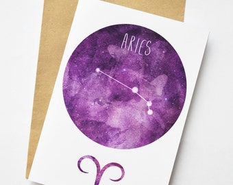 Aries Astrology / Zodiac Greeting Card