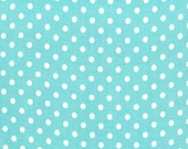 Michael Miller Fat Quarter Fabric for quilt or craft Dumb Dot in Robin