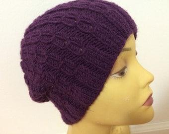 Knit Purple Winter Women Hat, Women Hat, Usa Seller