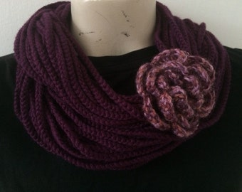 Chain Rope Scarf With Adjustable Flower