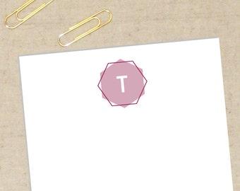 Austin Personalized Stationery Set - Flat Note Cards