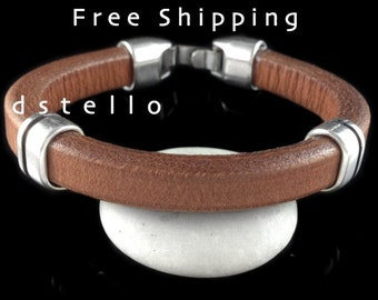 Men's leather bracelet, Men's jewelry, Thick leather bracelet, Men's accessories, Thick leather bracelet, Spanish leather, Gift