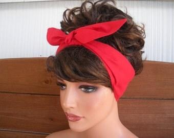 Fabric Headband Dolly Bow Headband Accessories Women Headband Hair Scarf Fashion Headscarf Tie Up Headband   - Choose color