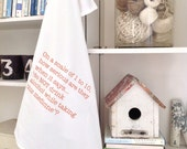 On a scale of 1 to 10...Funny Gourmet Flour Sack Dish Towel