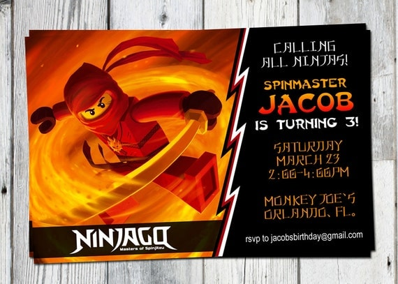 Ninjago Birthday Invitations is the best ideas you have to choose for invitation example