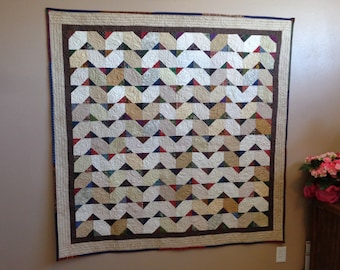 Silly Geese Lap Quilt, Country Quilt, Lap Quilt, Large Quilt 0213-01
