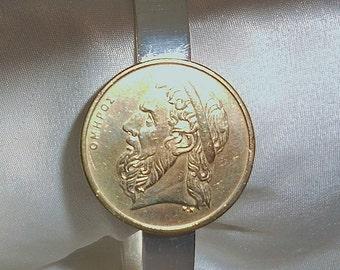 Greece Vintage Coin Bracelet  Homer the Poet 1992