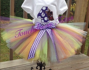 Scooby Doo inspired tutu outfit-pick your number