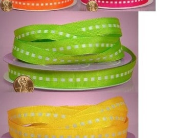 Center Stitched Grosgrain Ribbon-5/8 inch wide-select color-price for 3 yards