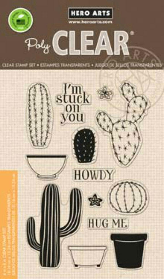 Hero Arts Stamp Your Own Succulents CL839 Clear Stamps