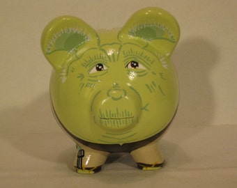 Personalized, Handpainted, Yoda Piggy Bank - MADE TO ORDER