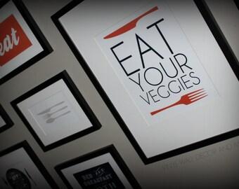 Kitchen Print- Eat Your Veggies