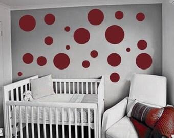 polka dots Wall Decals-Nursery Wall decor - Childrens Wall Decal - Kids Vinyl Wall decals