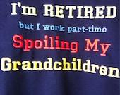 Grandma or grandpa crew neck sweat shirt