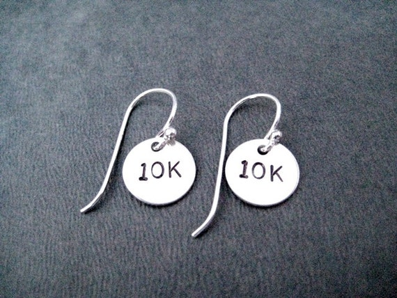 10K Earrings Sterling Silver Running Earrings Track Jewelry 10K