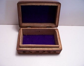 Carved Flowered box