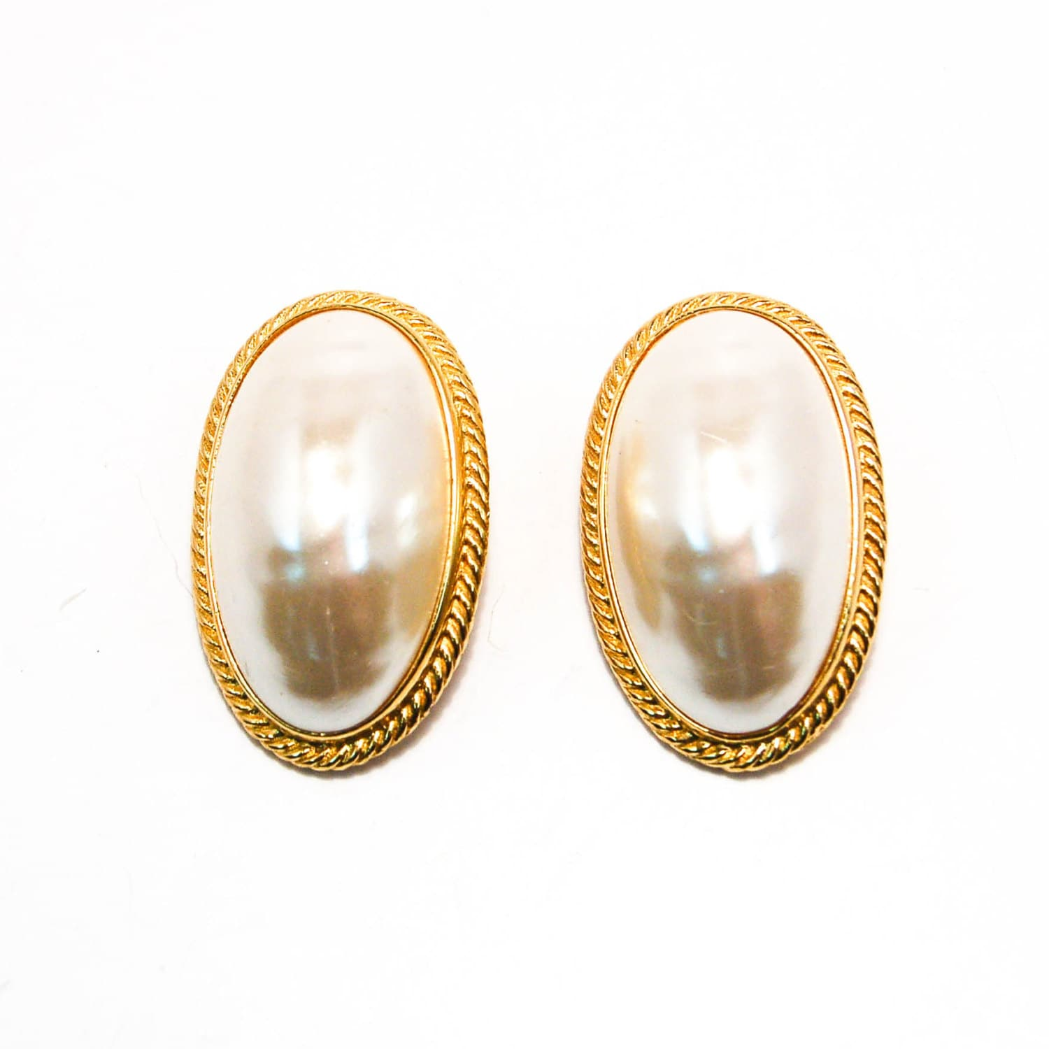 givenchy mabe pearl earrings large oval oversized couture