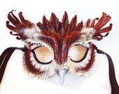 Eastern Screech Owl Leather Mask
