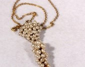French Art Deco Faux Pearls Pendant Necklace Long Pendant 1920s Jewelry Bridals Gift