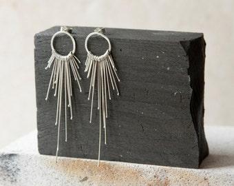 Earrings - Sterling silver comet earings  - dangle earrigns