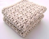 Crochet Washcloth Bathroom Spa Cloth Kitchen Dishcloth Dish Cloth Crochet Dish Rag Wash Cloth Set of 2 d