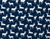 Navy Deer with Minky Boppy Cover