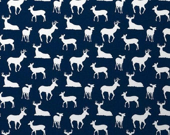 Nursing Pillow Cover - Navy Deer with Minky Boppy Cover - Woodland, Buck