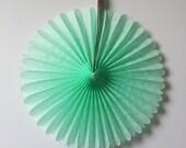 Mint Tissue Paper Fan  , birthday party decoration, baby shower decor, wedding decor, bridal showers