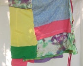 wrap skirt, plus size t shirt skirt, rainbow, bright colored skirt