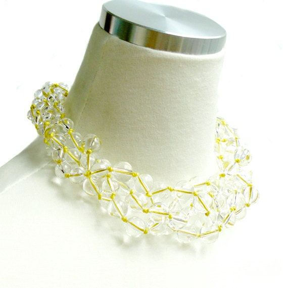 Clearly Crystal Delicious Necklace - Yellow