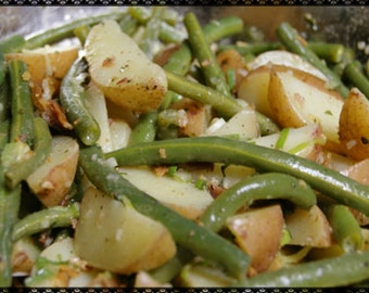 Nanny's Green Beans & Potatoes Recipe~~~Instant Download