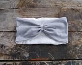Turban Headband Women's Grey Sweatshirt Knit Jersey Fleece Lined Ear Warmers Headband Winter Fashion for Women and Girls Holiday Sale