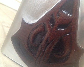 Hand-Carved Best Of Bounty Hunters Flask - Assassin's Creed + Boba Fett