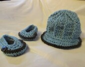 Baby Boy Hat And Shoe Set