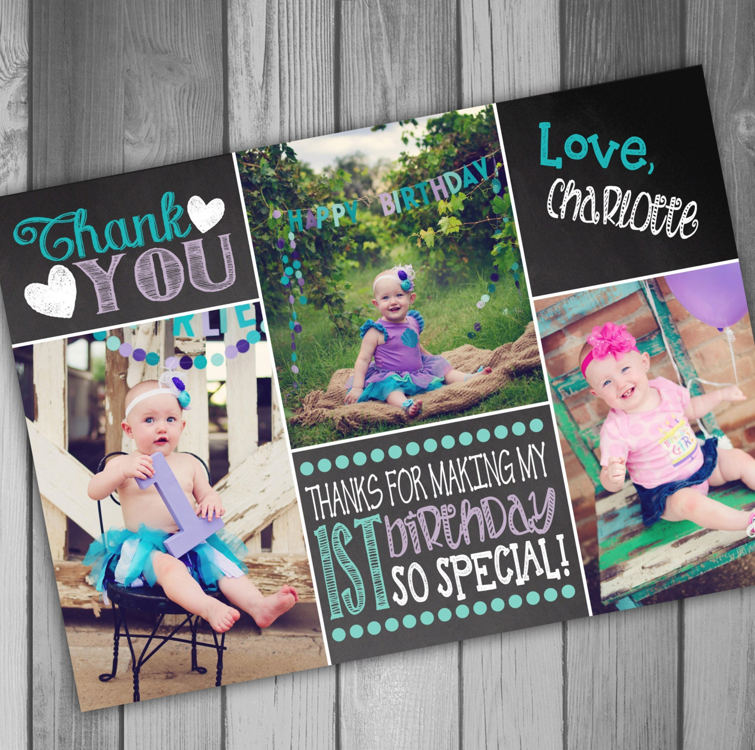 1st birthday thank you cards – First Birthday Thank You Cards